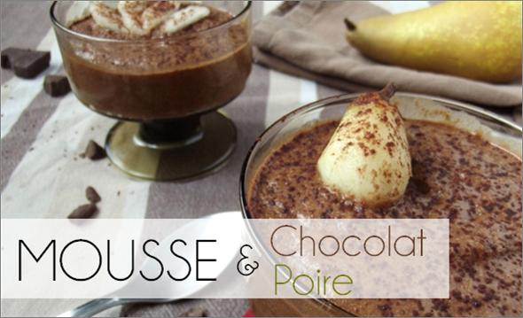 Mousse Chocolat / Poire (-38% de calories)