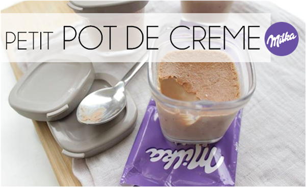 Petit pot de crème au milka