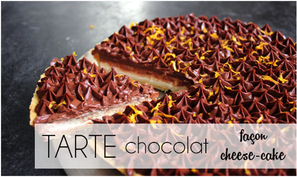 Tarte chocolat façon cheese-cake (-52% de calories)