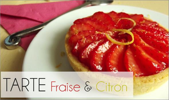 Tarte Fraise / Citron (-39% de calories)