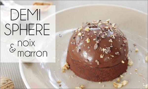 Demi sphère noix / marron