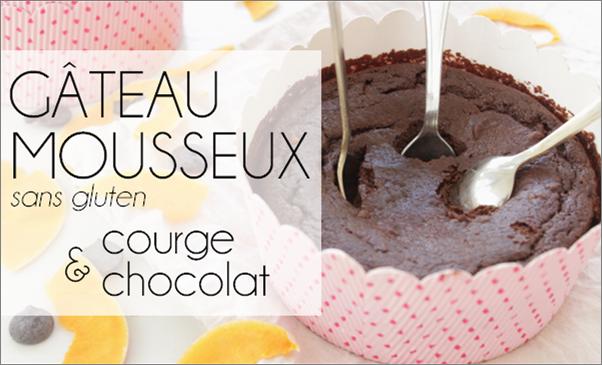 Gâteau mousseux chocolat / courge