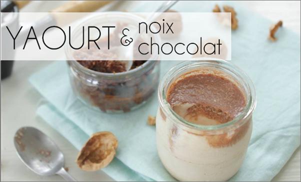 Yaourt chocolat / noix