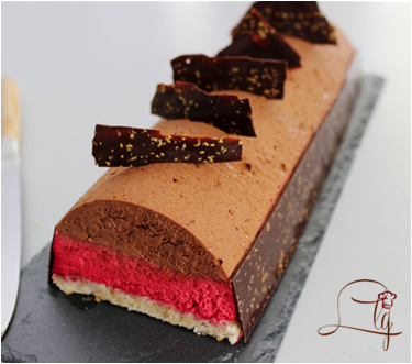 Bûche chocolat / framboises