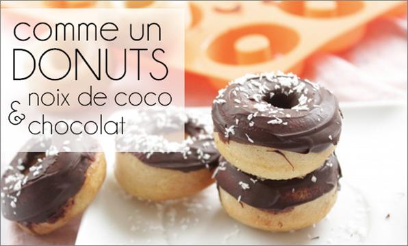 Donuts, chocolat / noix de coco