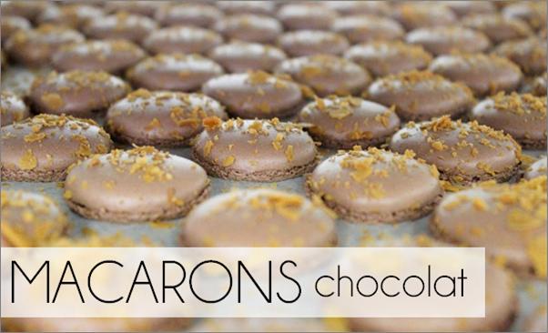 Macarons chocolat de Valrhona