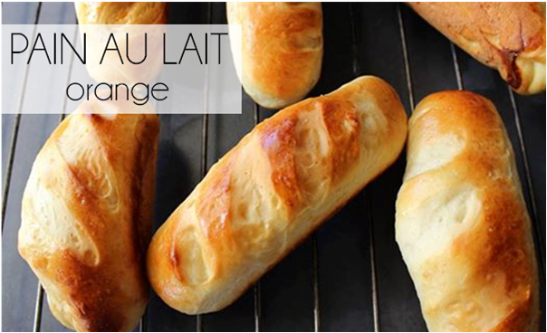 Petit pain au lait à l'orange