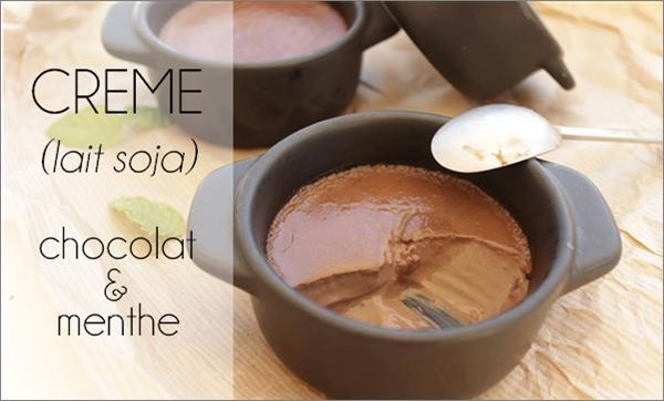 Crème chocolat / menthe au lait de soja
