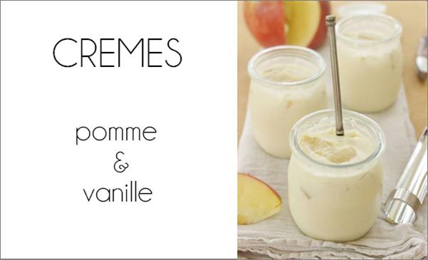 Crèmes pomme / vanille