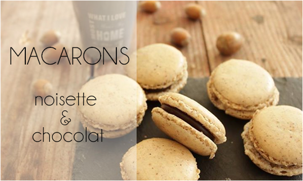 Macarons noisette / chocolat