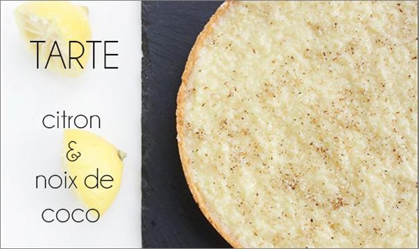 Tarte citron / noix de coco