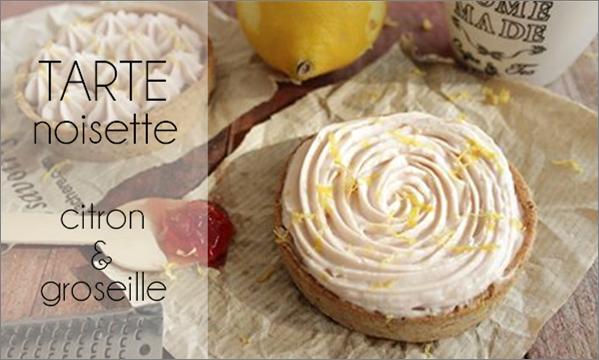 Tartelette citron / groseille noisette ... sans oeuf