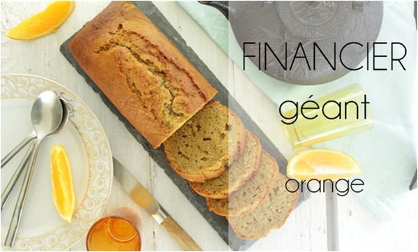 Financier géant à l'orange (sans gluten)