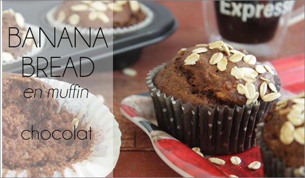 Banana bread au chocolat en muffin