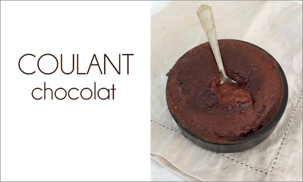 Coulant chocolat sans beurre
