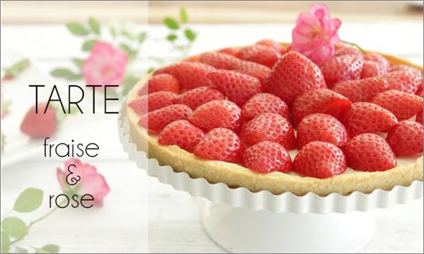 Tarte fraise et rose