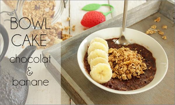 Bowl cake chocolat / banane