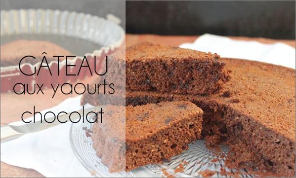 Gâteau au yaourt au chocolat (sans sucre ajouté, ni beurre)