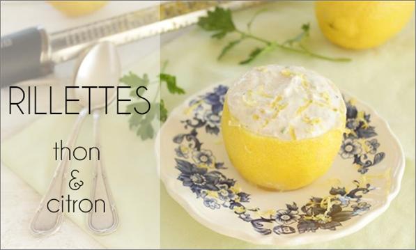 Rillette de thon au citron