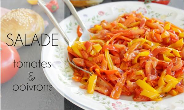 Salade de poivrons et tomates