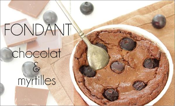 Fondant myrtille et chocolat (sans sucre ni beurre)