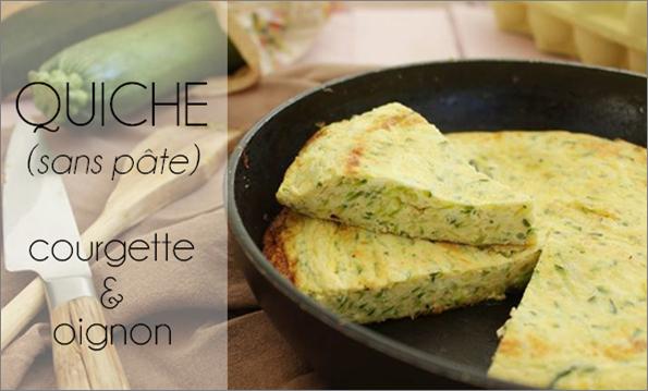 Quiche (sans pâte) courgette / oignon