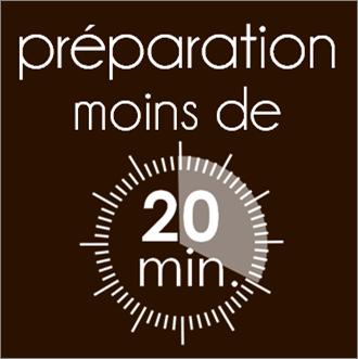 Toutes les recettes avec moins de 20 minutes de préparation