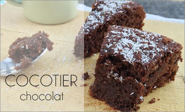 Cocotier au chocolat (sans beurre, sans sucre et vegan)
