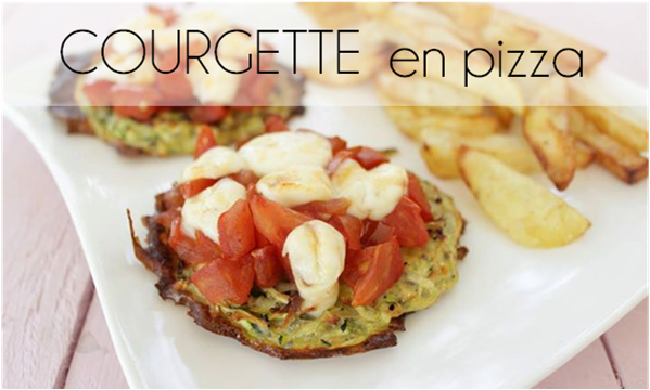 Courgettes en pizza