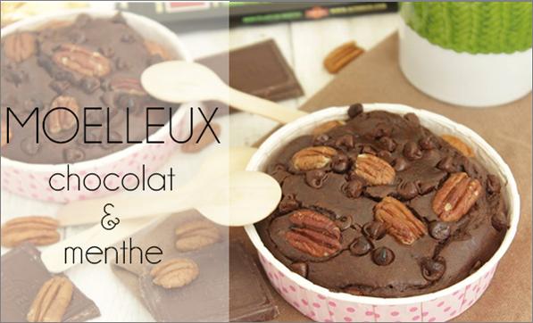 Moelleux chocolat / menthe (au beurre de cacahuète).