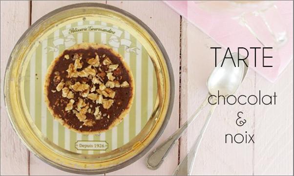 Tartelette chocolat / noix (au beurre de cacao)
