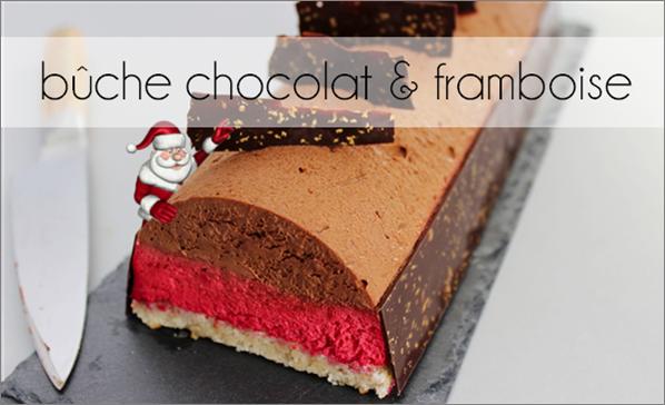 Bûche noisette chocolat / framboise(-39% de calories)