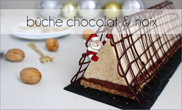 Bûche chocolat / noix (-30% de calories)