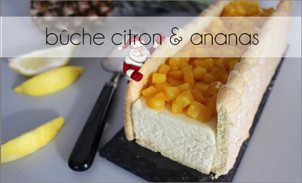 Bûche ananas / citron (-34% de calories)