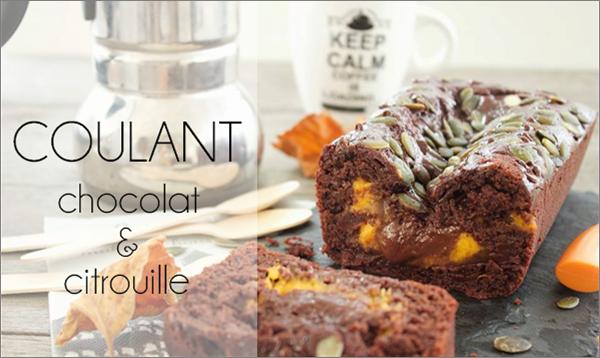 Coulant chocolat / citrouille (sans beurre).