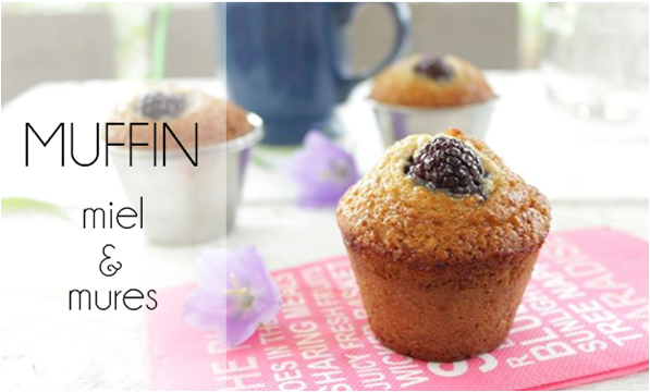 Muffin miel / mure (sans beurre).