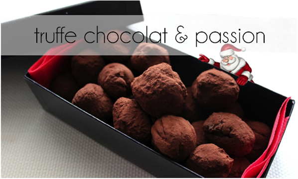 Truffe chocolat et fruits de la passion (-57% de calories)