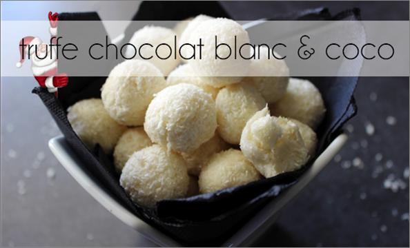 Truffe noix de coco / chocolat blanc (-35% de calories)
