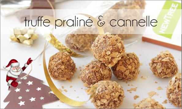 Truffes praliné, chocolat et cannelle
