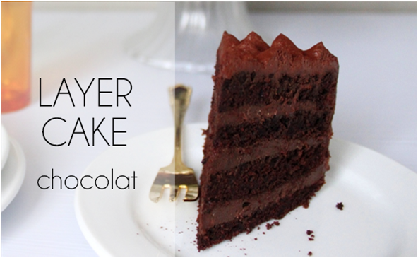 Layer cake chocolat (-57% de calories)