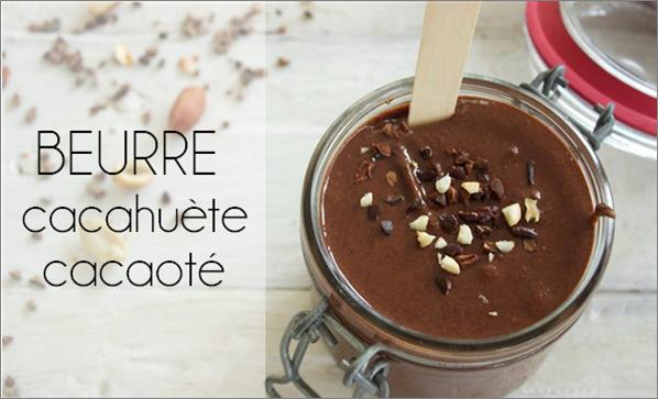 Beurre de cacahuète cacaoté