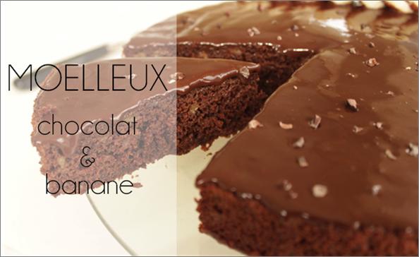 Moelleux chocolat / bananes (-40% de calories)