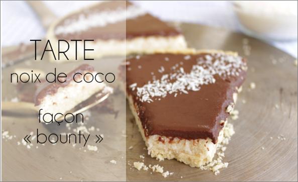 """Tarte noix de coco, façon """"bounty"""" (-31% de calories)"""