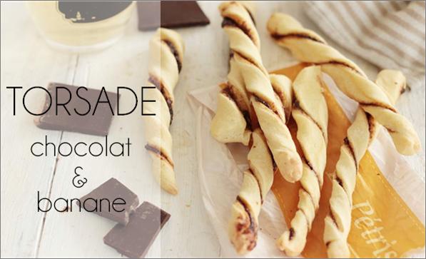 Torsades chocolat / banane (sans beurre)