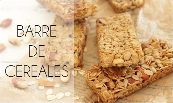 Barres de céréales (sans gluten).