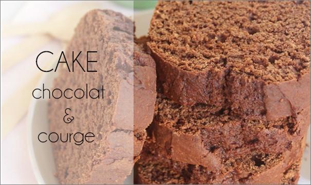 Cake chocolat courge (sans beurre).