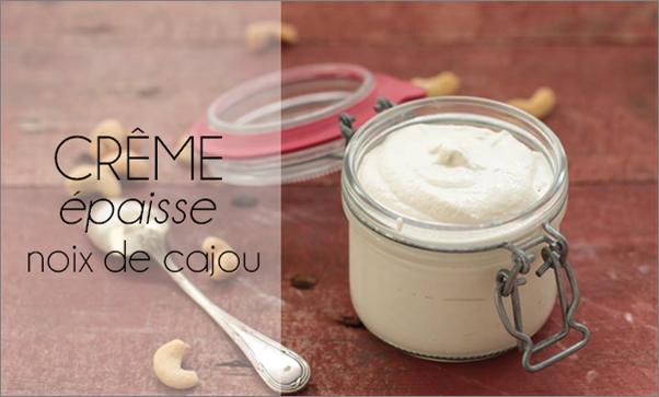 Crème épaisse de cajou.