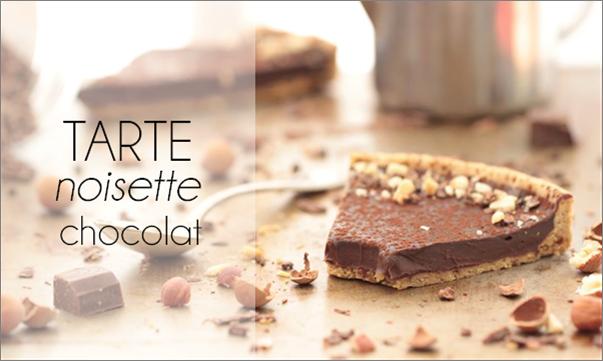 Tarte chocolat noisette (vegan).