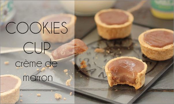 Cookies cup à la crème de marron.
