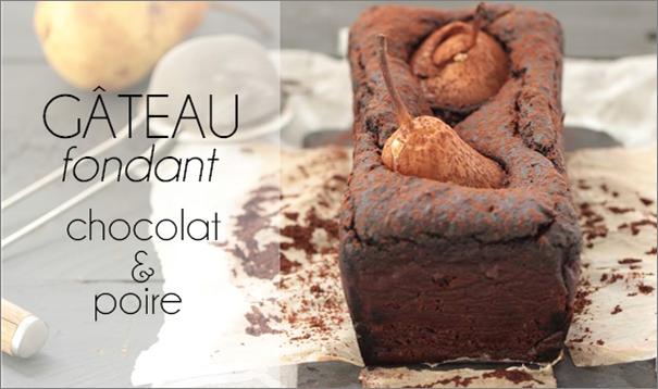 Gâteau fondant chocolat poire à la courge.